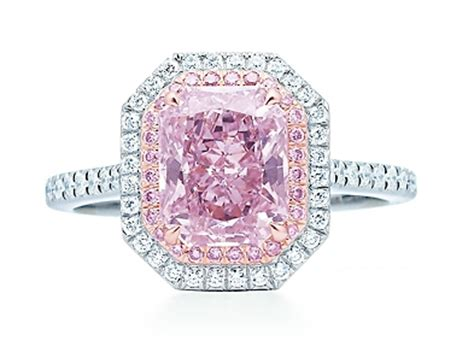 beautiful tiffany engagement rings with pink diamonds