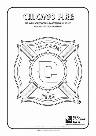 Coloring Pages Logos Fire Chicago Mls Soccer