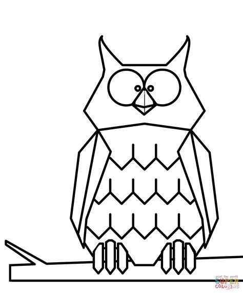 cartoni da stare e disegnare disegno di gufo dei cartoni animati da colorare disegni da