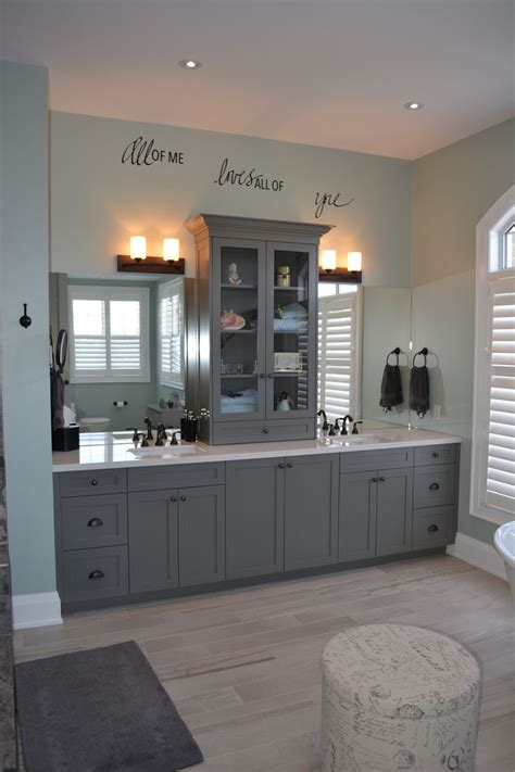 grey bathroom cabinets ideas  pinterest