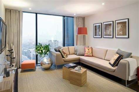 complete  apartment   stylish living room
