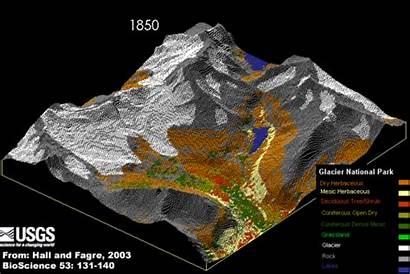 Glacier National Park Animation Erosion Glacial Change