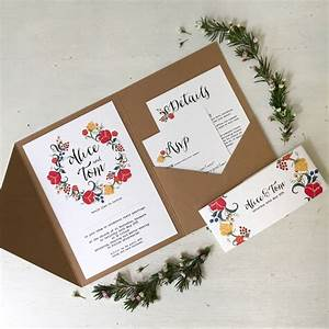 pocketfold wedding invitation by tigerlily wedding With wedding invitation wording pocketfold