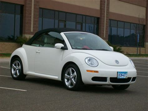 white convertible volkswagen 2007 volkswagen new beetle convertible triple white pzev