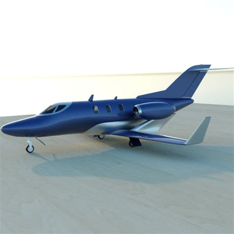 Honda Jet Private Aircraft Restyled 3d Model .fbx .lwo .lw