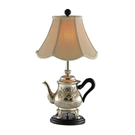 gold l shades amazon gold teapot l with beige scalloped shade table ls