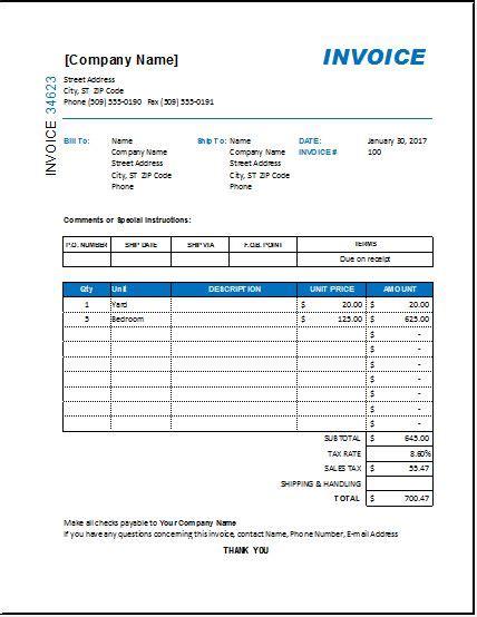 interior home designer interior design invoice template for excel excel invoice