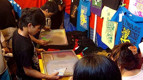 souvenir  shirt silk screen printing  cebu sinulog