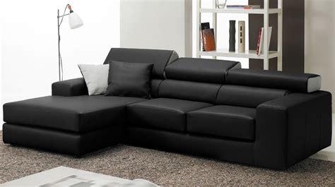fauteuil bureau cuir canapé d 39 angle en cuir noir haut de gamme angle réversible