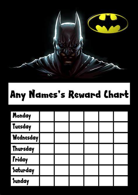 batman star sticker reward chart  card zoo