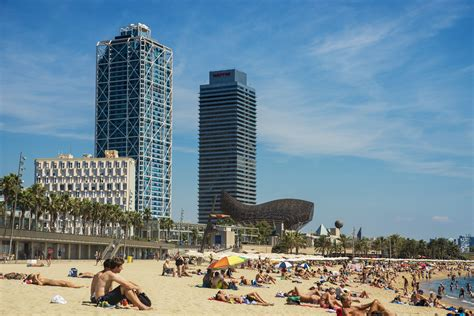 top  beaches  barcelona spain