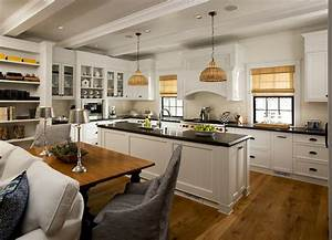 Open floor plan kitchen cottage kitchen vallone design for Kitchen cabinet trends 2018 combined with oil rubbed bronze wall art