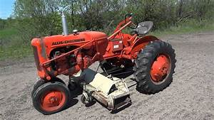 At Auction 1948 Allis Chalmers C Tractor With 5 U0026 39  Kub