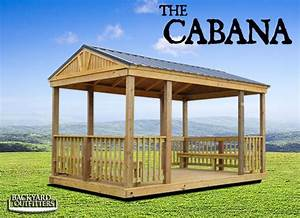 outdoor cabanas of all sizes at backyard outfitters inc With backyard outfitters inc