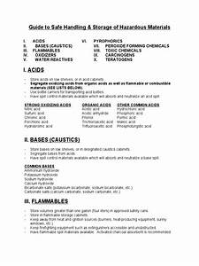 Chemical Storage Guidelines