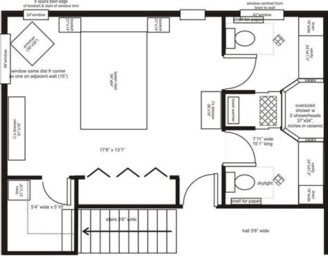 master suite plans his and bathroom layouts search master