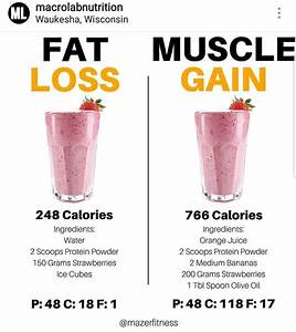Fat Loss Vs Muscle Gain Smoothie