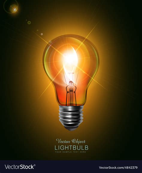 glowing light bulb royalty free stock images image light bulb glowing in the royalty free vector image