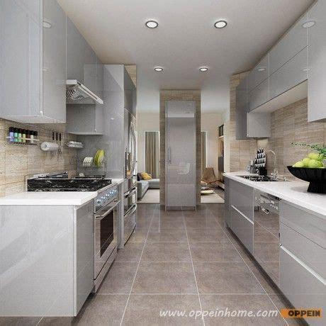 design for small kitchen op16 a01 modern light grey high gloss acrylic kitchen 6563