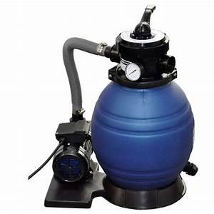 Filtre A Sable Piscine : vidaxl filtre sable pour piscine 400 w 90291 jardin ~ Dailycaller-alerts.com Idées de Décoration