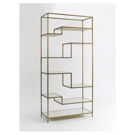 Antique Brass Etagere by Dwellstudio Antique Brass Mirrored Shelves Mansfield Etagere