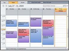 Easy setup of an aggregate calendar view for multiple users