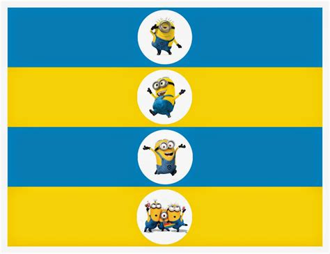 minions banderines toppers etiquetas para imprimir gratis ideas y material gratis para