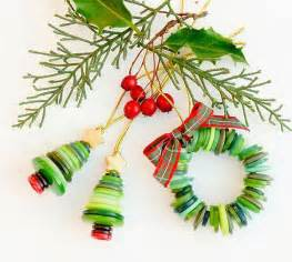 how to make button christmas ornaments winter christmas pinterest
