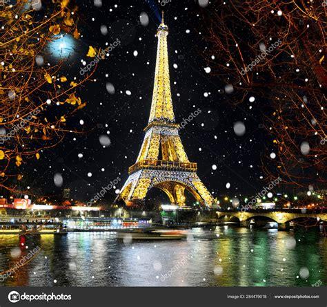 paris france december  eiffel tower light