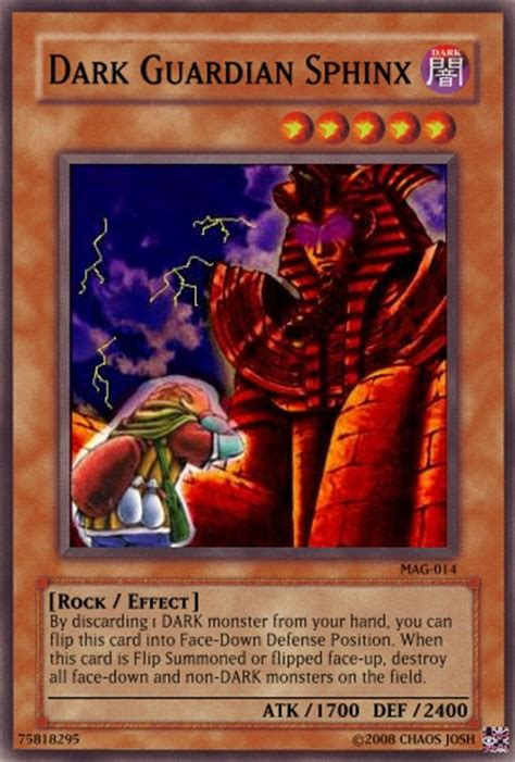 Dark Guardian Sphinx  Yugioh Card Maker Wiki Cards