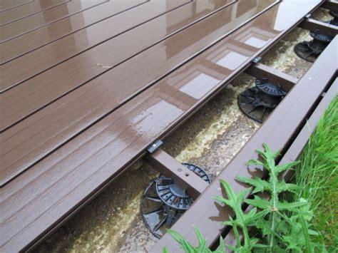 terrasse en bois composite avec mauvais clips