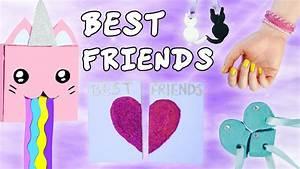 DIY MEILLEURES AMIES BEST FRIENDS IDEES CADEAUX YouTube