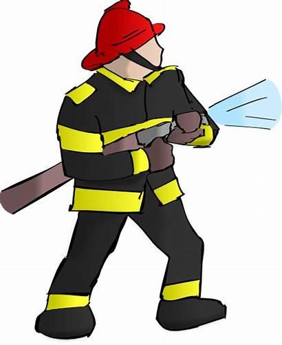 Firefighter Clip Clipart Clker Vector