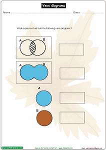 Venn Diagrams  Write The Expression Worksheet For 1st