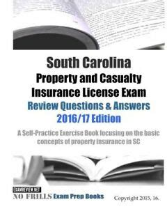 Property & casualty insurance license exam flashcards. South Carolina Property and Casualty Insurance License Exam Test Questions Book 9781522736967   eBay