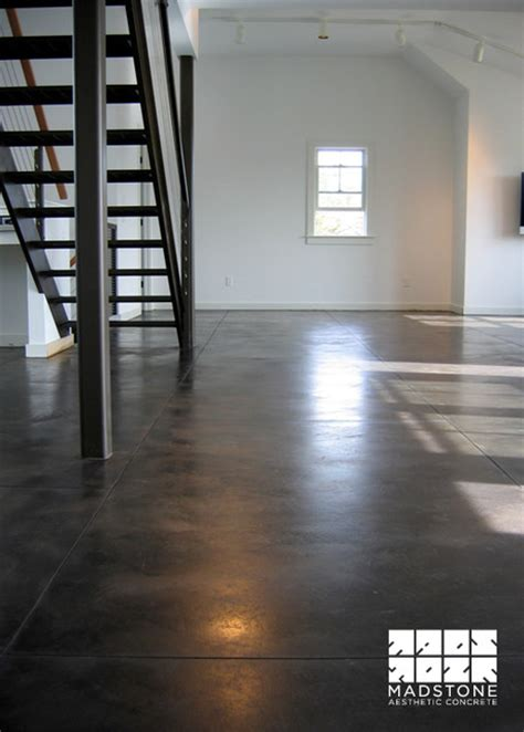 zep floor finish for stained concrete black stained concrete floor modern other metro by