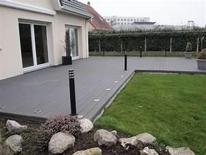 amenagement terrasse composite amenagement jardin avec With amenagement de terrasse exterieur
