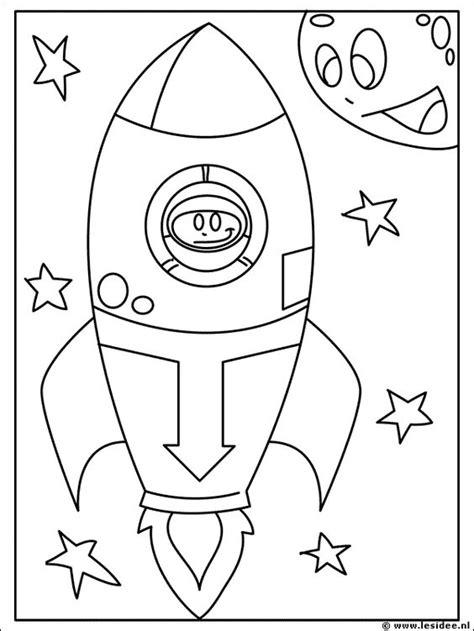 Kleurplaat Raket by Raket Kleurplaat Zoeken Raar Maar Waar