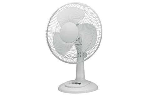 simple value white oscillating desk fan 7 inch