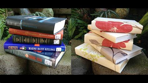 Books For Decor - how to re cover hardcover books for home decor