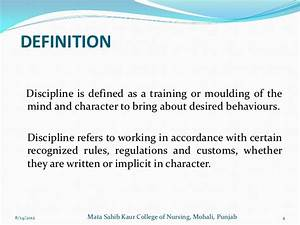 Discipline in nursing