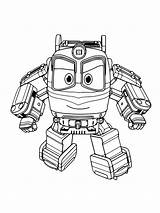 Robot Coloring Pages Trains Printable Cartoon Print sketch template
