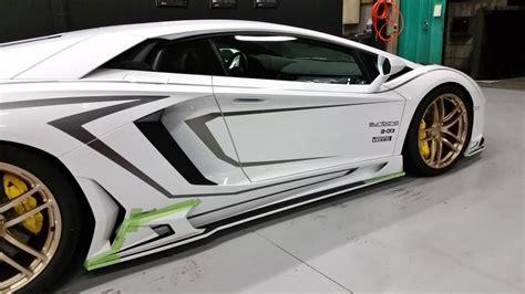 fake lamborghini body kit lamborghini aventador gets carbon body kit from rowen