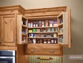 kraftmaid multi storage kitchen wall pantry rustic