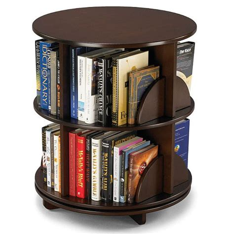 Bilevel Rotating Bookcase