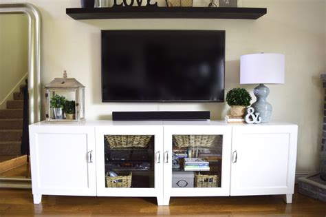 Ikea Besta Vassbo by Our Somewhat Ikea Hacked Entertainment Center And An