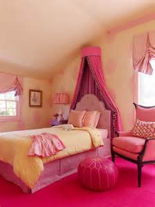 Little Girl Pink and Yellow Bedroom
