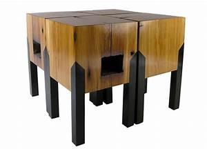 Meuble Bois Recyclé : meubles design en bois recycl tables basses tabourets et meubles d 39 appoint design ~ Teatrodelosmanantiales.com Idées de Décoration