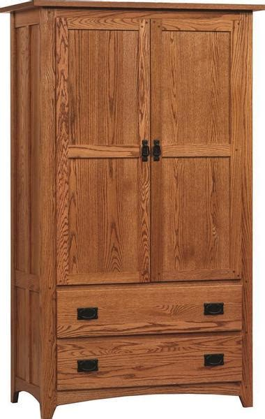 amish mission deluxe armoire  dutchcrafters amish