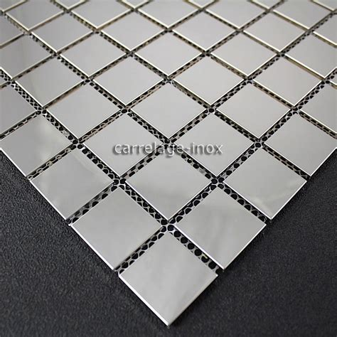 plaque cuisine inox plate stainless steel mosaic splashback kitchen bathroom